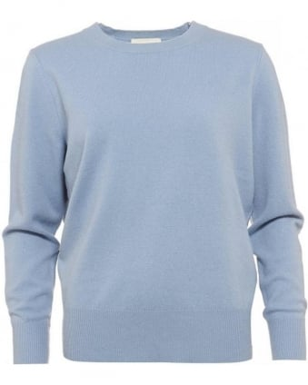 Sycamore Sweater, Blue Crew Neck Jumper