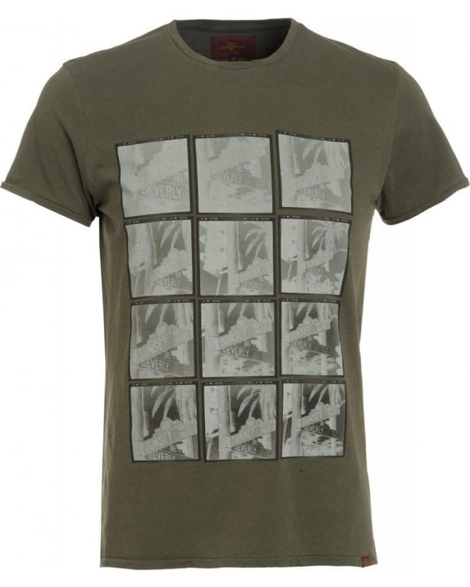 For All Mankind T-Shirt, Army Green Beverly Hills Street Sign Tee