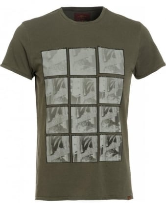 T-Shirt, Army Green Beverly Hills Street Sign Tee