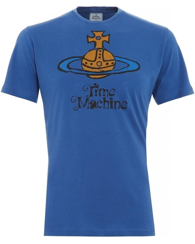Vivienne Westwood Man T-Shirt Blue Time Machine Iconic Tee