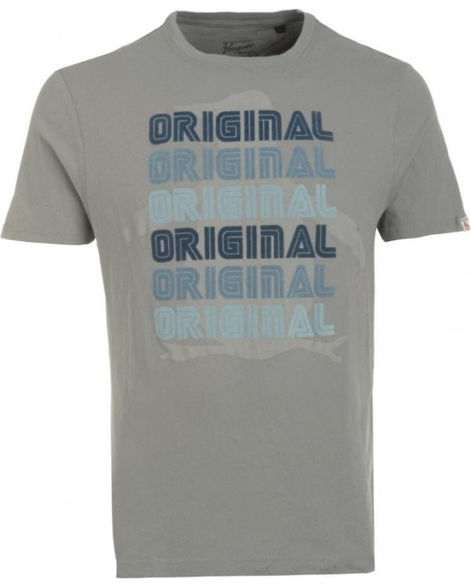 Original Penguin T-Shirt, Monument Grey Retro Logo Tee