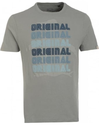 T-Shirt, Monument Grey Retro Logo Tee