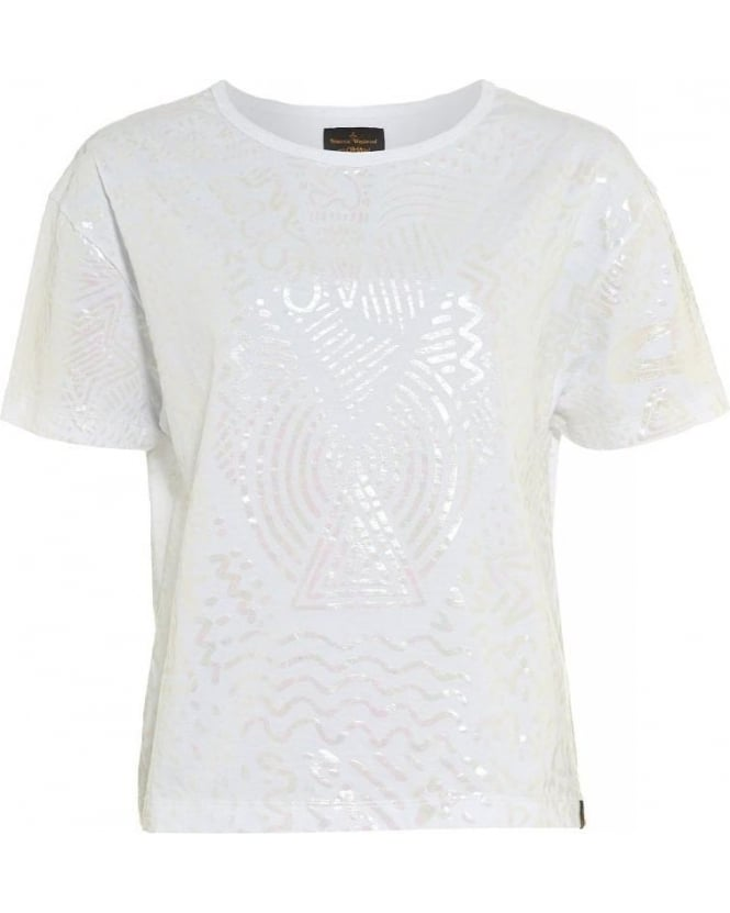 Vivienne Westwood Anglomania T-shirt White Iridescent Liquor Protest Tee