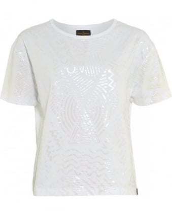 T-shirt White Iridescent Liquor Protest Tee