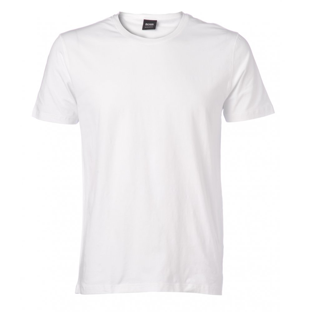 hugo boss black t shirt white lecco 54 crew neck tee 50214800. Black Bedroom Furniture Sets. Home Design Ideas