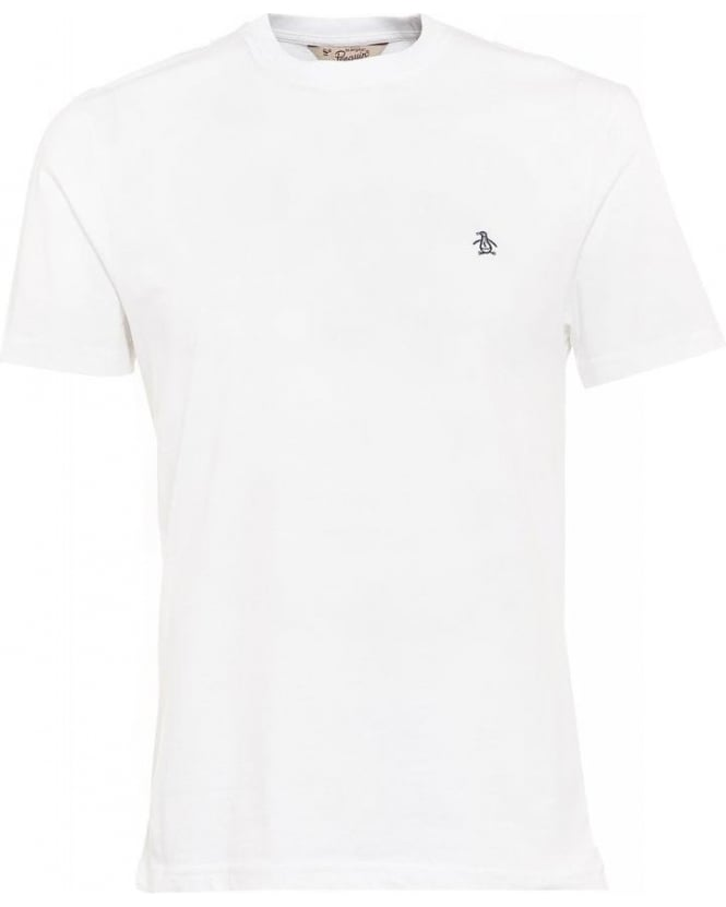 Original Penguin T-Shirt, White Regular Fit Logo Tee