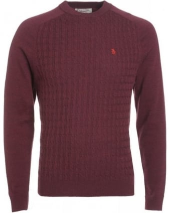 Tawny Port Red Jumper Merino Knitwear