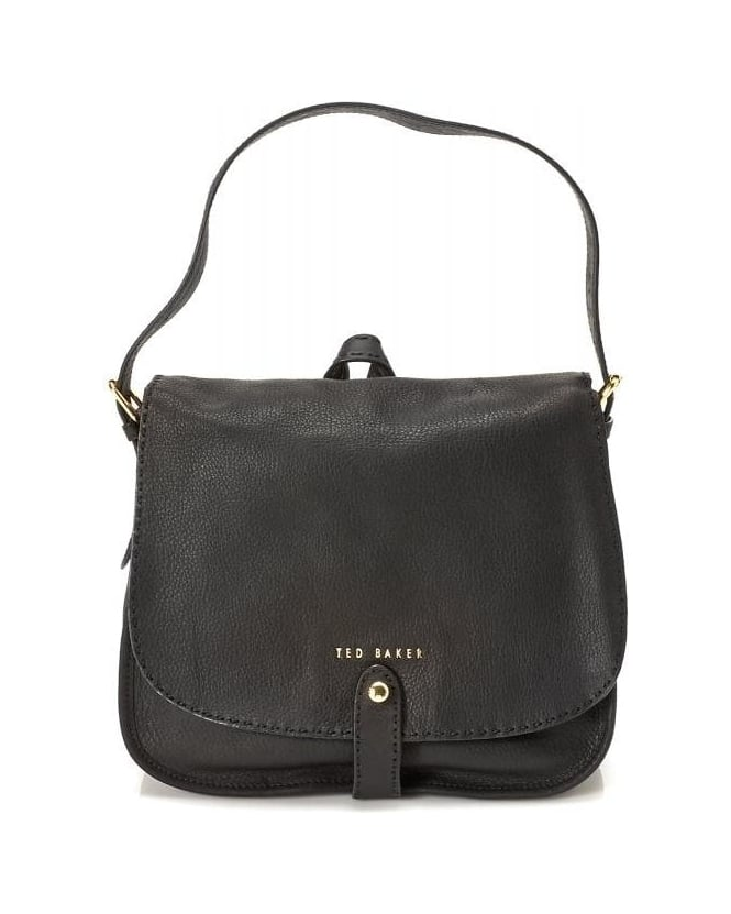 Ted Baker Gailia, Hobo Black Leather Shoulder Bag