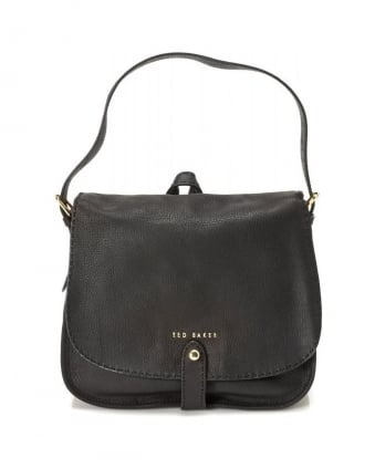 Gailia, Hobo Black Leather Shoulder Bag