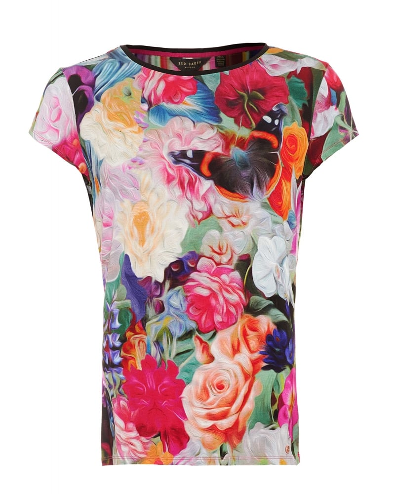 Ted baker womens briana t shirt floral swirl print tee for Ted baker floral print shirt