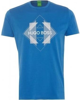Tee 2 Mens T-Shirt Blue Geometric Logo Crew Neck Tee