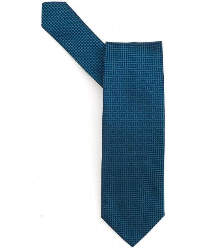 Hugo Boss Black Tie Green Micro Square Silk Tie
