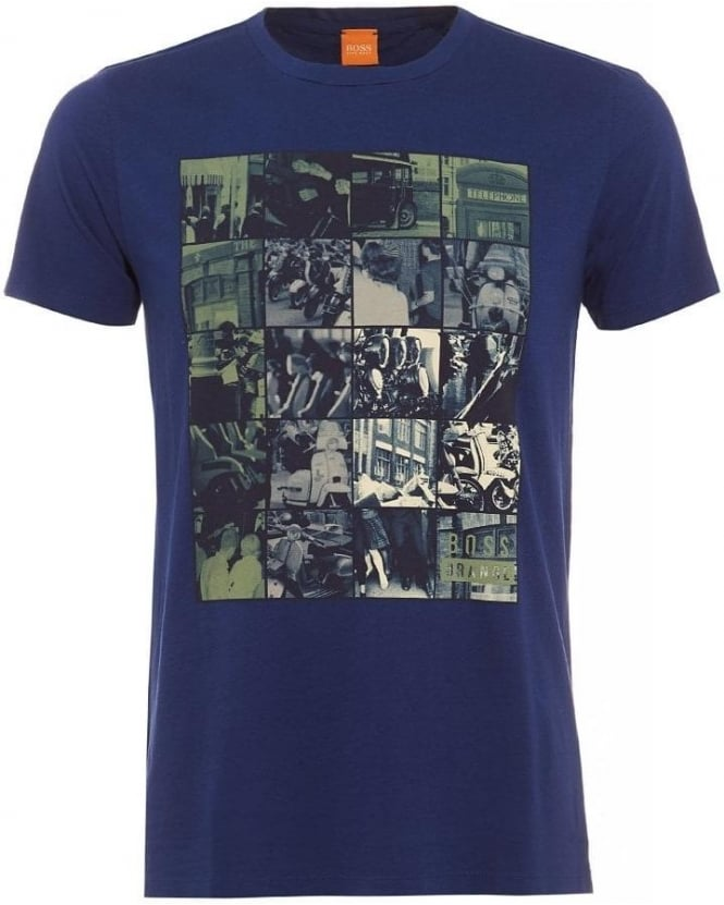 Hugo Boss Orange Timblin 1 Blue Tee Vespa Photo Print T Shirt