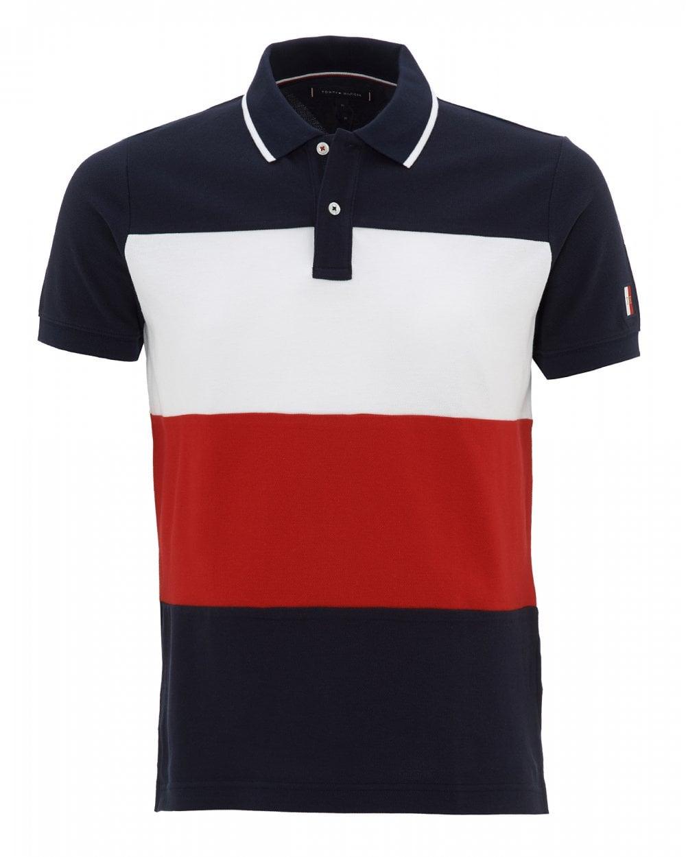 ada94c9e Tommy Hilfiger Mens Colour Block Slim Fit Polo Shirt