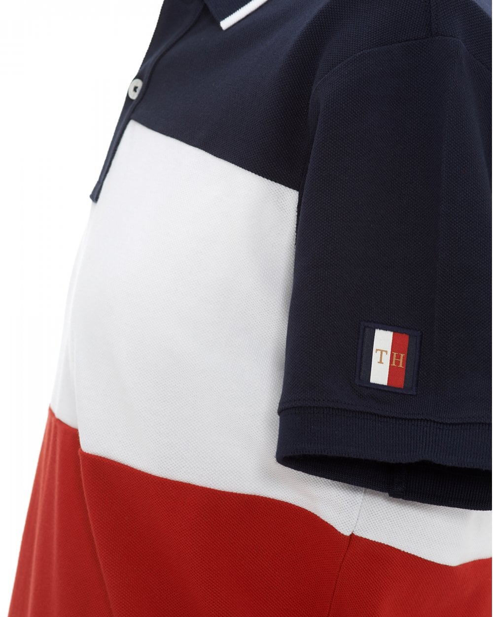 7d18b5264 Tommy Hilfiger Mens Colour Block Slim Fit Polo Shirt