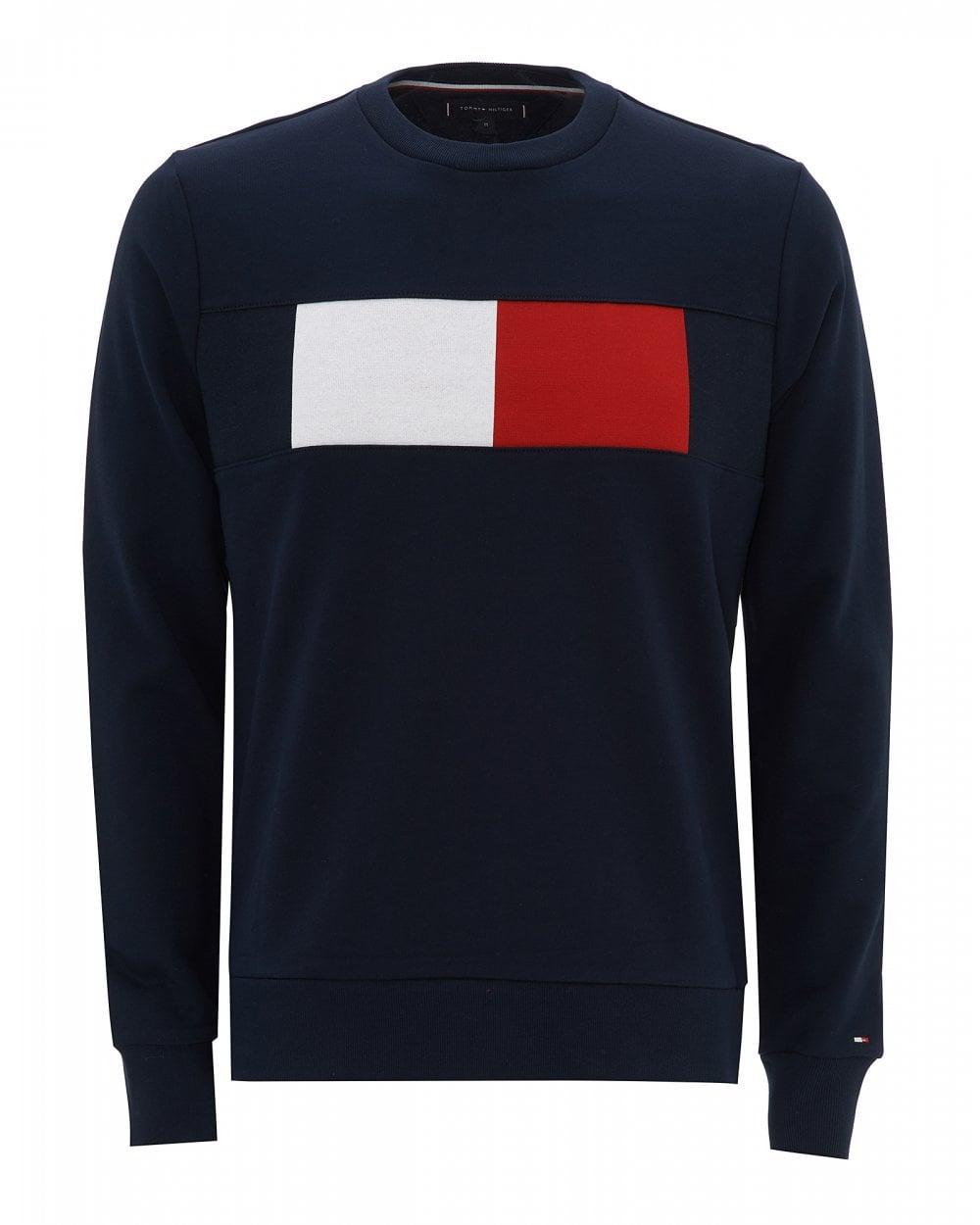 ddd4a2caa Tommy Hilfiger Mens Colour-Blocked Sweat, Regular Fit Flag Sweatshirt