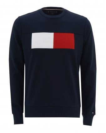 a4428020 Mens Colour-Blocked Sweat, Regular Fit Flag Sweatshirt FINAL. Tommy Hilfiger  ...