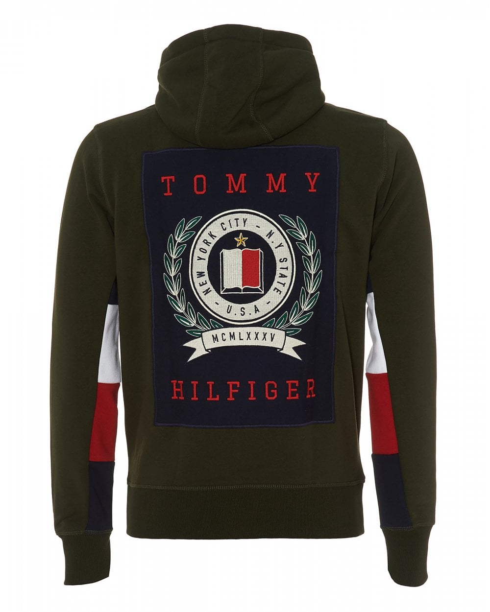 8a9bdb527bc73 Tommy Hilfiger Mens Crest Back Hoodie