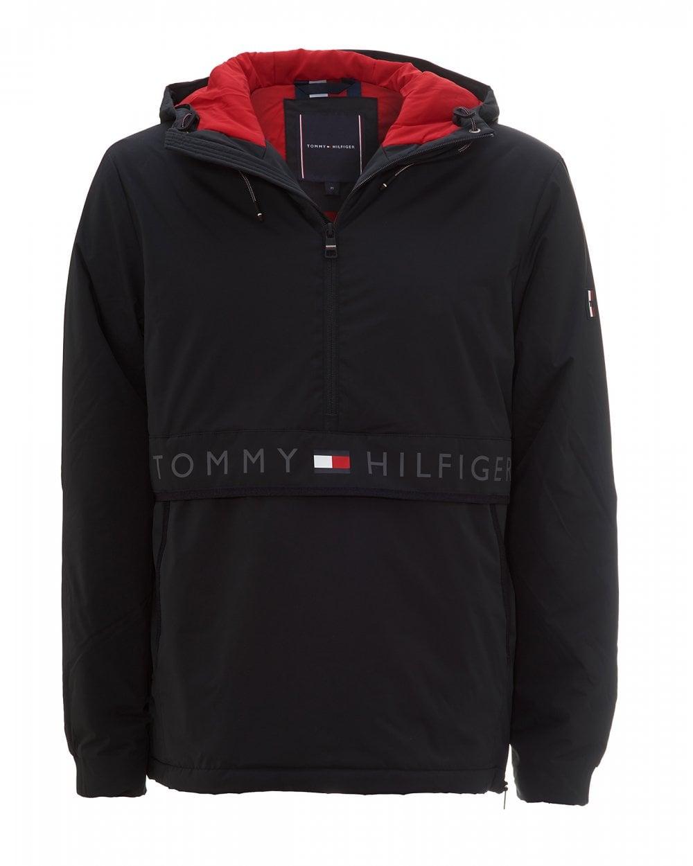 hæderligt sted højeste mode online til salg Mens Hooded Stretch Anorak, Black Jacket