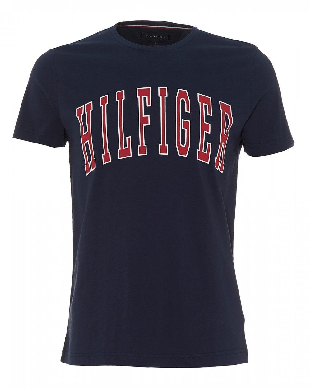 c0f94ac8ca846 Tommy Hilfiger Mens Retro College Logo T-Shirt