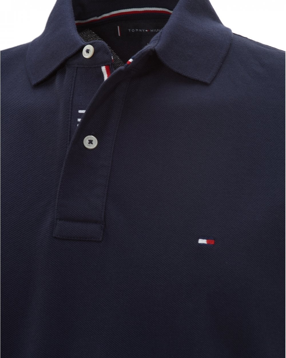 sconto del 50 in vendita all'ingrosso Saldi 2019 Tommy Hilfiger Mens Sky Captain Navy Logo Placket Polo Shirt