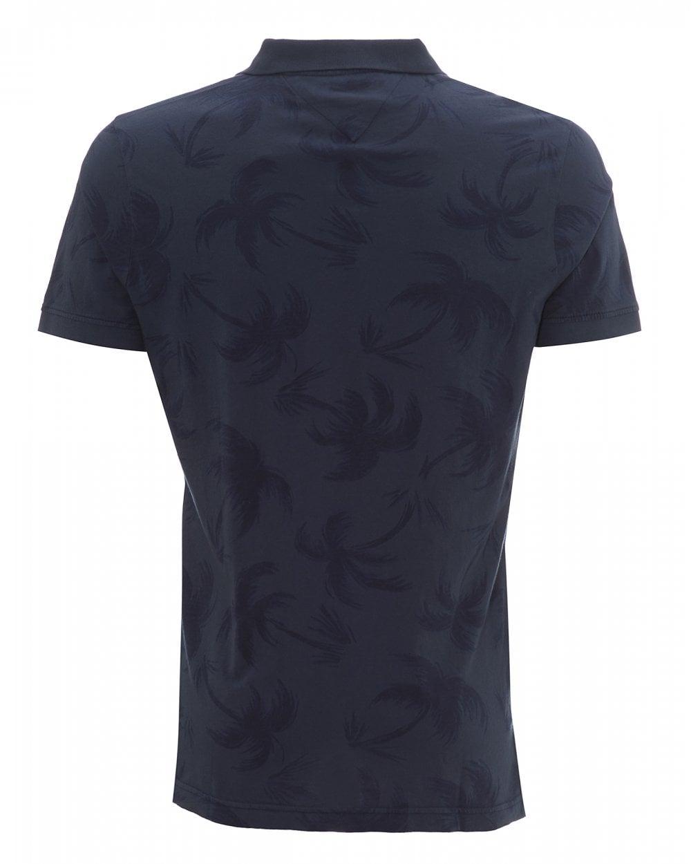b6f3fee2 Tommy Hilfiger Mens Tropical Palm Print Slim Fit Polo Shirt