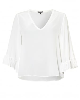 Womens Clapton Top, Ruffle Sleeve Blouse