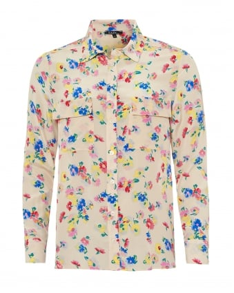 Womens Gala Shirt, All Over Flower Print Blouse