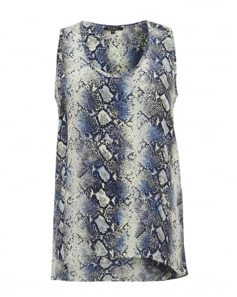 Womens Niger Blue Python Sleeveless Vest