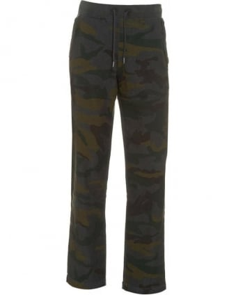 Tracksuit Bottoms, Camouflage Print Track Pants
