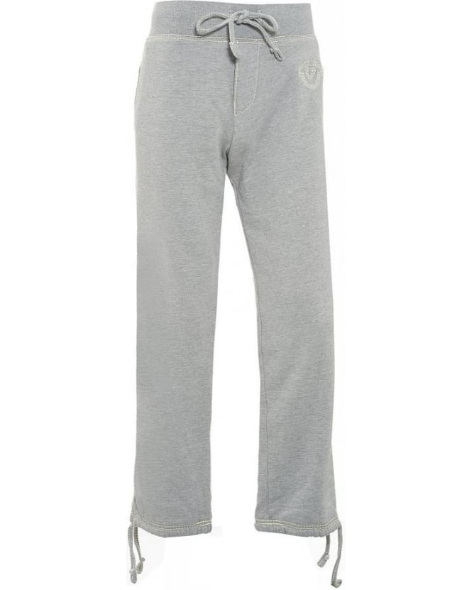 True Religion Jeans Tracksuit Bottoms, Grey Track Pants QT Quad Stitch Joggers