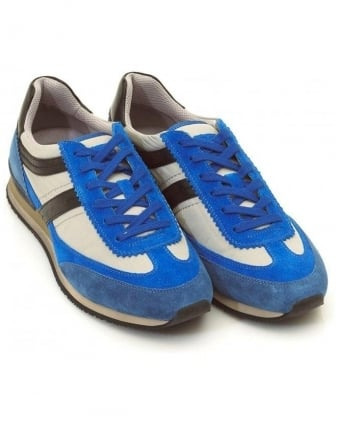 Trainers, Blue Suede 'Adrinos' Trainer