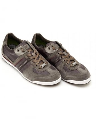 Trainers, Grey Suede Akeen Sneakers