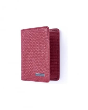 'Tress' Red Double Card Holder Leather Wallet