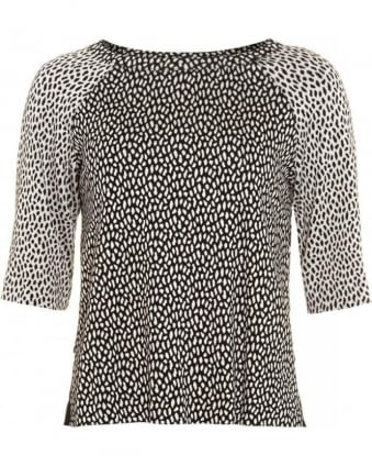 'Trevi' Animal Print Raglan Top