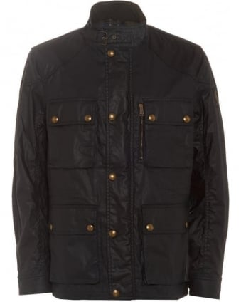 Trialmaster Jacket Mens Waxed Cotton Dark Navy Jacket