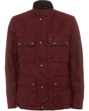 Trialmaster Jacket Racing Red Wax Cotton Jacket