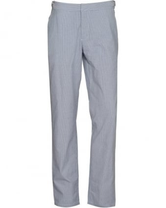 Trousers Bedlington Blue Seersucker Linen Trouser