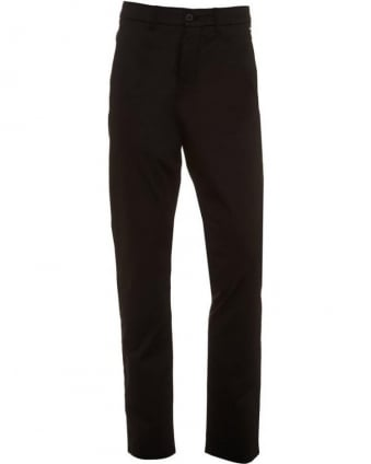Trousers Black Basic Slim Fit Leeman 1-W Chinos