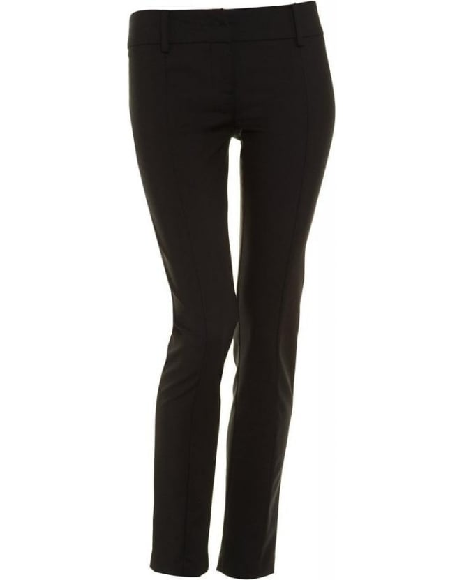 Patrizia Pepe Trousers Black Cropped Skinny Trouser