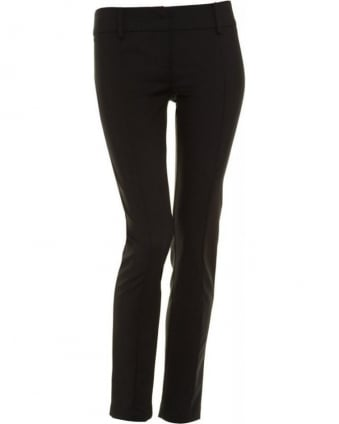 Trousers Black Cropped Skinny Trouser