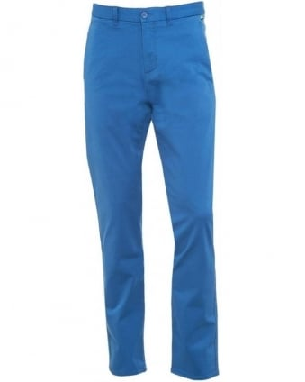 Trousers, Blue Slim Fit Casual 'Leeman 1-W' Chinos