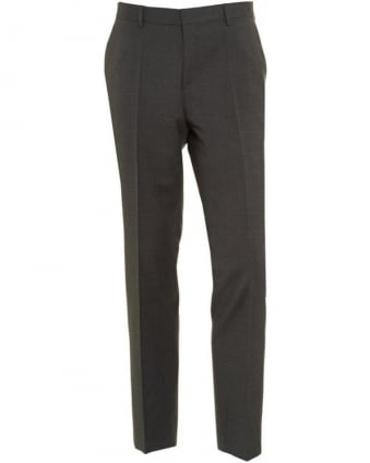 Trousers, Grey Slim Fit Wool Business 'Genesis 2' Trousers
