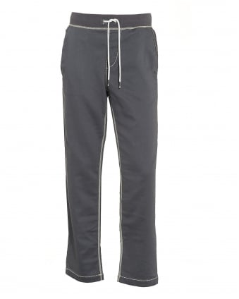 Mens Big T Contrast Stitch Grey Track Pant