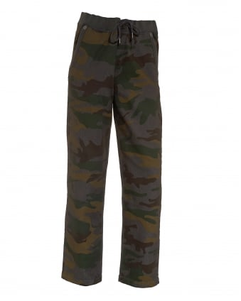Mens Big T Drawstring Cammo Trackpants