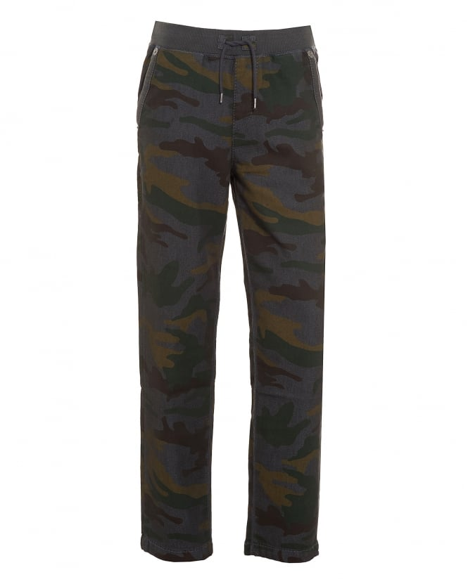 True Religion Jeans Mens Big T Grey Camouflage Sweatpant