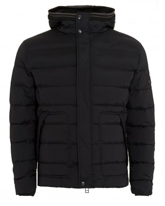 Mens Black Quilted Puffa Jacket