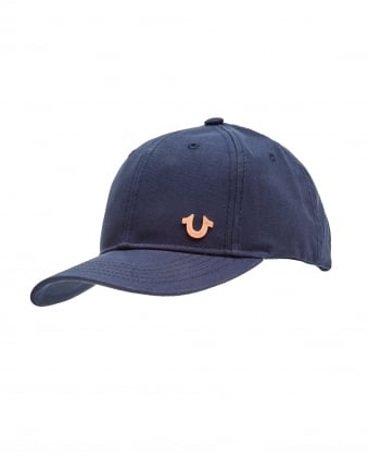 Mens Horseshoe Logo Cap, Navy Blue Hat