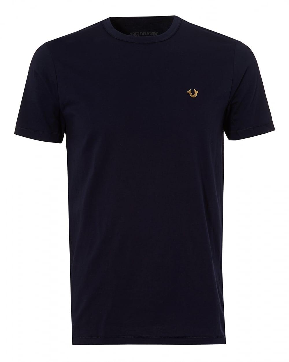 True Religion Jeans Mens Horseshoe Logo T-Shirt, Plain ...