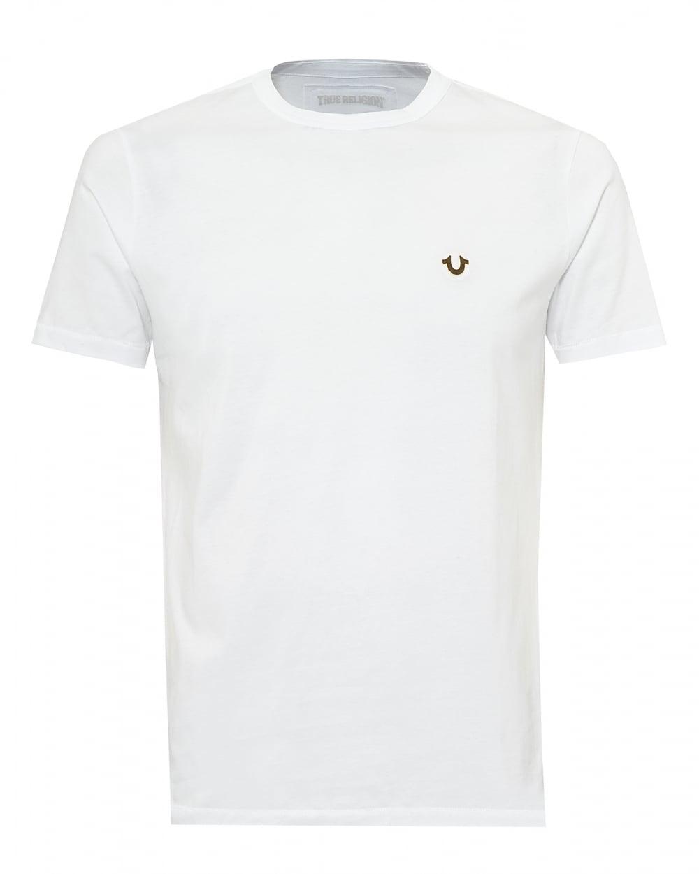 True Religion Jeans Mens Horseshoe Logo T Shirt Plain